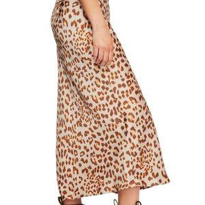 Normani Leopard Print Midi Skirt